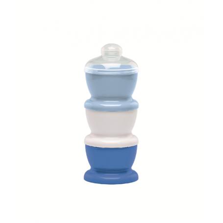 Boite transport de lait bleu