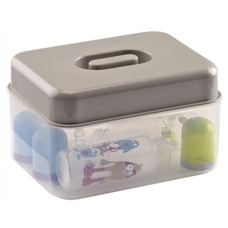 Sterilisateur micro-ondes gris