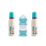 Kit bébé 2 biberons PP 240 ml + 3 boites transport de lait
