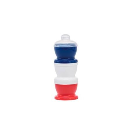 Boite transport de lait Tricolore avec couvercles